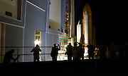 Space Shuttle Endeavour departs the VAB for her final journey to Pad 39A on Thursday, March 10, 2011.  STS-134 is scheduled to launch on April 19, 2011.