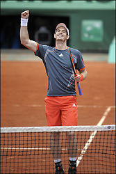 Andy Murray in action at the French Open, in Paris , 4th June 2012 , Photo by: Imago / i-Images