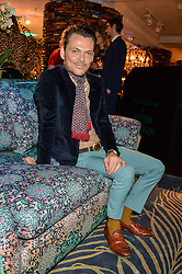 MATTHEW WILLIAMSON at the Duresta For Matthew Williamson Exclusive Launch At Harrods, Knightsbridge, London on 10th March 2016.