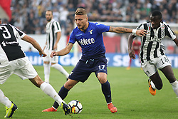 October 14, 2017 - Turin, Piedmont, Italy - Ciro IMMOBILE (SS Lazio) during the Serie A football match between Juventus FC and SS Lazio at Olympic Allianz Stadium on 14 October, 2017 in Turin, Italy. (Credit Image: © Massimiliano Ferraro/NurPhoto via ZUMA Press)