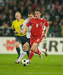 MONCHENGLADBACH, GERMANY - Wednesday, October 15, 2008: Wales' Jason Koumas in action against Germany during the 2010 FIFA World Cup South Africa Qualifying Group 4 match at the Borussia-Park Stadium. (Photo by David Rawcliffe/Propaganda)