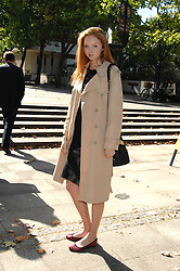 LILY COLE at the memorial service of Isabella Blow held at the Guards Chapel, London W1 on 18th September 2007.<br /><br />NON EXCLUSIVE - WORLD RIGHTS