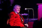 Rock and roll legend Jerry Lee Lewis. This picture shows, Jerry Lee Lewis  performing in his club, after a parade down Beale Street, Memphis, Tennessee, at the opening of his club in April, 2013.