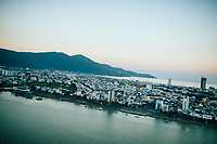 A view over Danang and Son Tra Peninsula in central Vietnam.