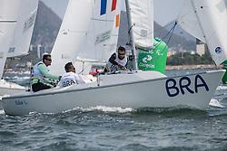 DO CARMO Antonio Marcos, GONCALVES de ABREU Jose Matias, FERREIRA ANASTACIO Herivelton, BRA, 3-Person Keelboat, SONAR, Sailing, Voile à Rio 2016 Paralympic Games, Brazil