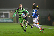 Forest Green Rovers Elliott Frear(11) controls the ball during the Vanarama National League match between Forest Green Rovers and Dover Athletic at the New Lawn, Forest Green, United Kingdom on 17 December 2016. Photo by Shane Healey.