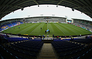 General Stadium view ahead of Warrington Wolves vs St Helens during the Betfred Super League Super 8s match at the Halliwell Jones Stadium, Warrington<br /> Picture by Stephen Gaunt/Focus Images Ltd +447904 833202<br /> 22/09/2018