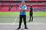 Forest Green Rovers kitman Tom Carter during the Vanarama National League Play Off Final match between Tranmere Rovers and Forest Green Rovers at Wembley Stadium, London, England on 14 May 2017. Photo by Shane Healey.