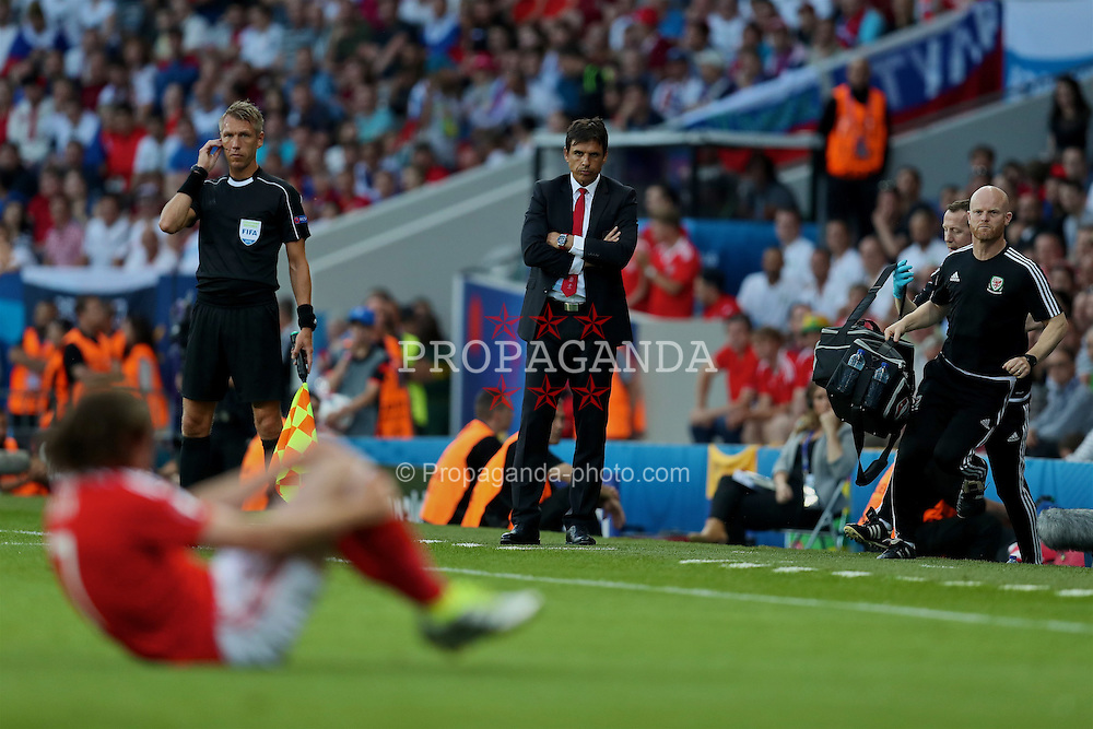 TOULOUSE, FRANCE - Monday, June 20, 2016: Wales' manager Chris Coleman during the final Group B UEFA Euro 2016 Championship match against Russia at Stadium de Toulouse. (Pic by David Rawcliffe/Propaganda)
