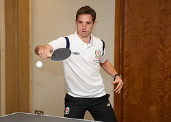 CARDIFF, WALES - Tuesday, September 4, 2012: Wales' Joe Allen during a players' table tennis tournament at the St. David's Hotel ahead of the Brazil 2014 FIFA World Cup Qualifying Group A match against Belgium. (Pic by David Rawcliffe/Propaganda)