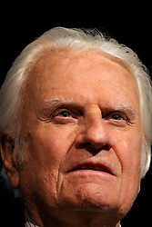 March 12th, 2006. New Orleans, Louisiana. Claiming this to be his last event preaching from the pulpit, the world's most famous evangelist, The Reverend Billy Graham addresses a capacity crowd at the New Orleans Arena as he brings his 'Celebration of Hope' weekend event to an end.