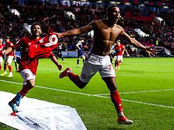 Niclas Eliasson of Bristol City celebrates scoring a goal to make it 1-0 - Rogan/JMP - 18/01/2020 - Ashton Gate Stadium - Bristol, England - Bristol City v Barnsley - Sky Bet Championship.