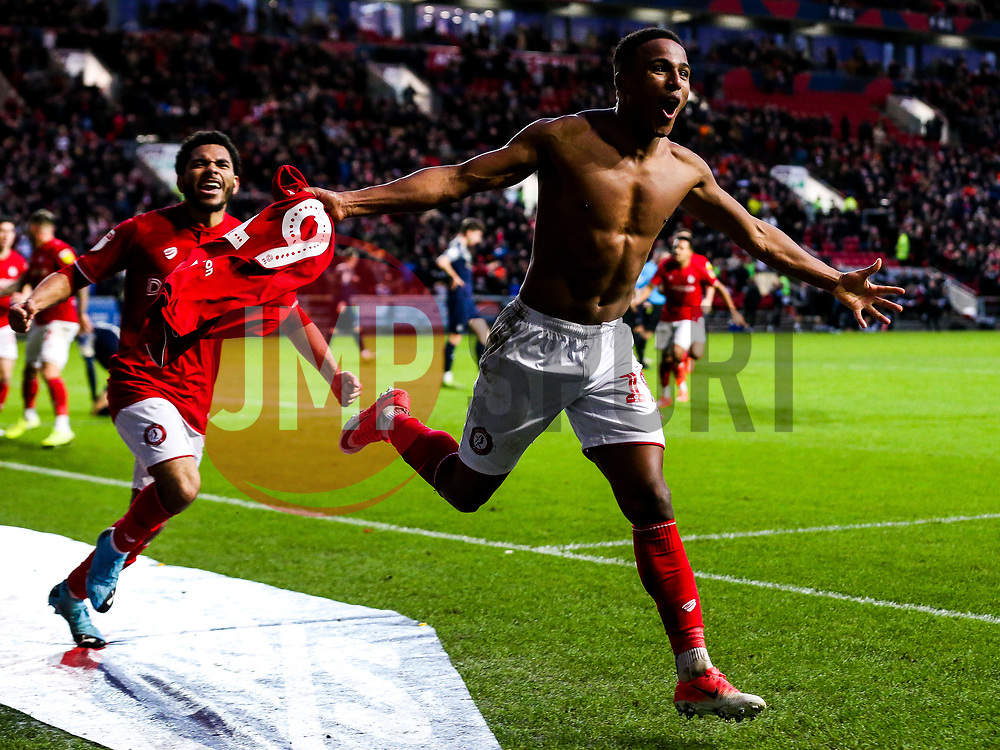 Niclas Eliasson of Bristol City celebrates scoring a goal to make it 1-0 - Rogan/JMP - 18/01/2020 - Ashton Gate Stadium - Bristol, England - Bristol City v Barnsley - Sky Bet Championship.
