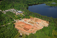 Construction of StateView Hotel next door to Park Alumni Center and Lake Ralaeigh on Centennial Campus.