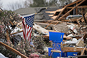Debris from where homes were hit by a tornado two days earlier in Garland, Texas on December 28, 2015. (Cooper Neill for The New York Times)