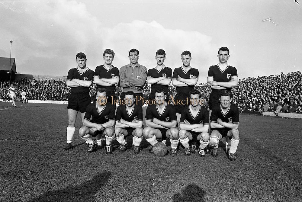 17/02/1963<br /> 02/17/1963<br /> 17 February 1963<br /> Soccer: Shamrock Rovers v Cork Celtic at Glenmalure Park, Milltown. The Cork Celtic team.