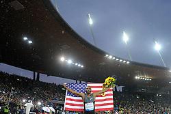 30.08.2012, Stadion Letzigrund, Zuerich, SUI, Leichtathletik, Weltklasse Zurich 2012, im Bild Sieger Angelo Taylor (USA), 400m Huerden Maenner // during Athletics World Class Zurich 2012 at Letzigrund Stadium, Zurich, Switzerland on 2012/08/30. EXPA Pictures © 2012, PhotoCredit: EXPA/ Freshfocus/ Valeriano Di Domenico..***** ATTENTION - for AUT, SLO, CRO, SRB, BIH only *****