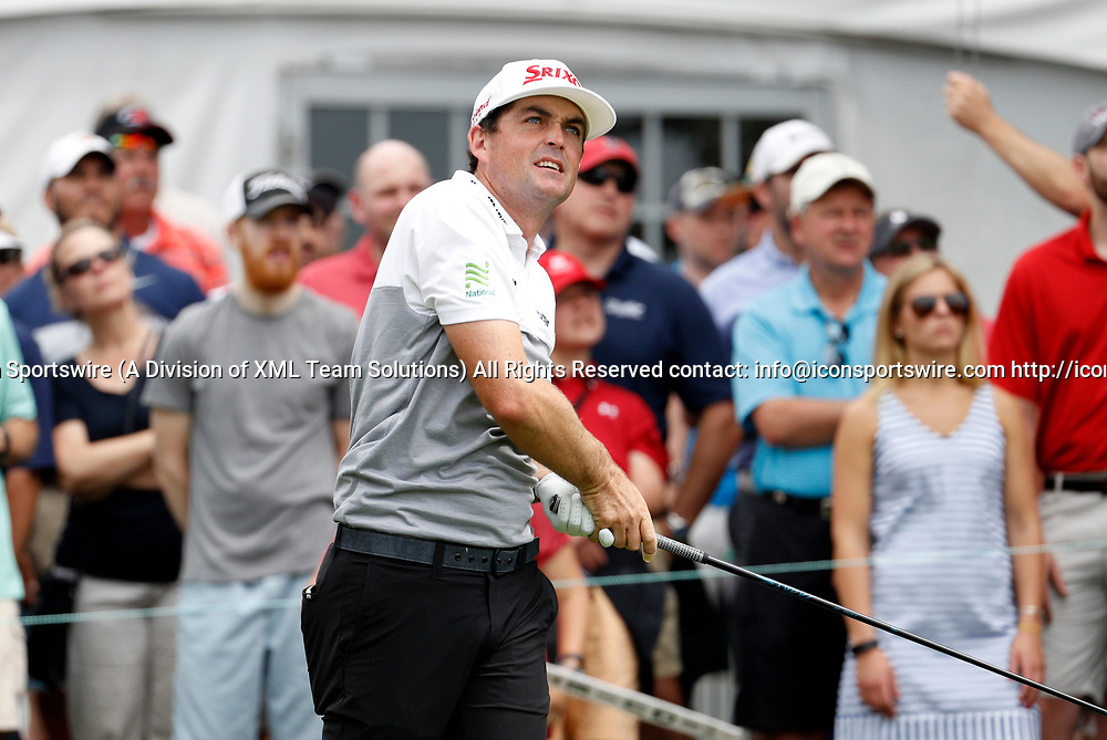 CROMWELL, CT - JUNE 24: Keegan Bradley of the United States watches his drive on one during the third round of the Travelers Championship on June 24, 2017, at TPC River Highlands in Cromwell, Connecticut. (Photo by Fred Kfoury III/Icon Sportswire)