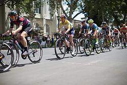 Megan Guarnier (USA) of Boels-Dolmans Cycling Team rides near the front of the race during the fourth, 70 km road race stage of the Amgen Tour of California - a stage race in California, United States on May 22, 2016 in Sacramento, CA.