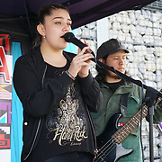 London, UK. 4th August 2017. Banda Club preforms at The 6th annual LATIN American Carnival Newham. A Latin American summer festival party with live music, delicious food & drinks and barbecue of Latino community and to show the vibrant of Latin culture at West Ham.