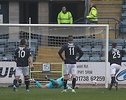 Kyle Letheren saves Mark Millar's penalty - Dundee  v Falkirk - SPFL Championship at Dens Park<br /> <br />  - &copy; David Young - www.davidyoungphoto.co.uk - email: davidyoungphoto@gmail.com