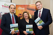 Repro Free: Regional Manager Diarmuid O'Sullivan  Threshold and Chairperson  Aideen Hayden  at the launch of Threshold: The Galway Tenancy Protection Service annual report  by Minister for Community Development, Natural Resources and Digitial Development  Sean Kyne in Galway.  Photo:Andrew Downes, xposure .