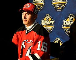 Michael McLeod of the Mississauga Steelheads was selected by the New Jersey Devils in the first round of the 2016 NHL Entry Draft in Buffalo, NY on Friday June 24, 2016. Photo by Aaron Bell/CHL Images