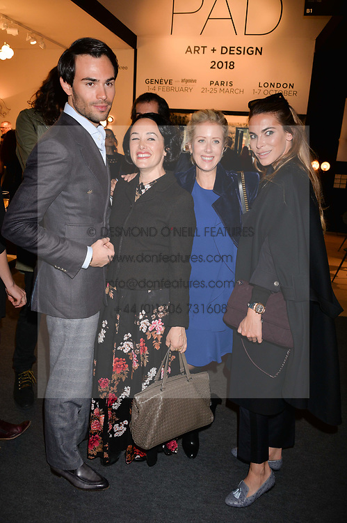 Mark-Francis Vandelli, Kimmy Murdoch, Elizabeth Esteve and Victoria Baker Harber at the 2017 PAD Collector's Preview, Berkeley Square, London, England. 02 October 2017.