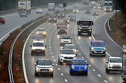 &copy; Licensed to London News Pictures. 09/08/2018. Swanley, UK. Wet weather journey for drivers on the M25 in Kent this morning at Junction 3, Swanley, as the sunny weather is replaced with rain.<br /> Photo credit: Grant Falvey/LNP