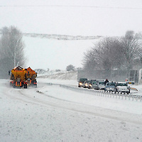 Heavy Snow Falls Across Perthshire....28.11.10<br /> Stranded vehicles stuck in the snow on the A9 northbound at Cairney Brae, south of Perth as snow ploughs attempt to clear the southbound carriageway.<br /> Picture by Graeme Hart.<br /> Copyright Perthshire Picture Agency<br /> Tel: 01738 623350  Mobile: 07990 594431