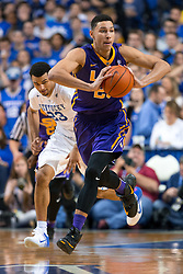 LSU forward Ben Simmons leads a fast break in the second half. <br /> <br /> The University of Kentucky hosted the LSU Tigers, Saturday, March 05, 2016 at Rupp Arena in Lexington .