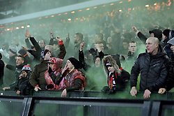 26-02-2015 NED: Europa League Feyenoord - AS Roma, Rotterdam<br /> In the photo Feyenoord supporters