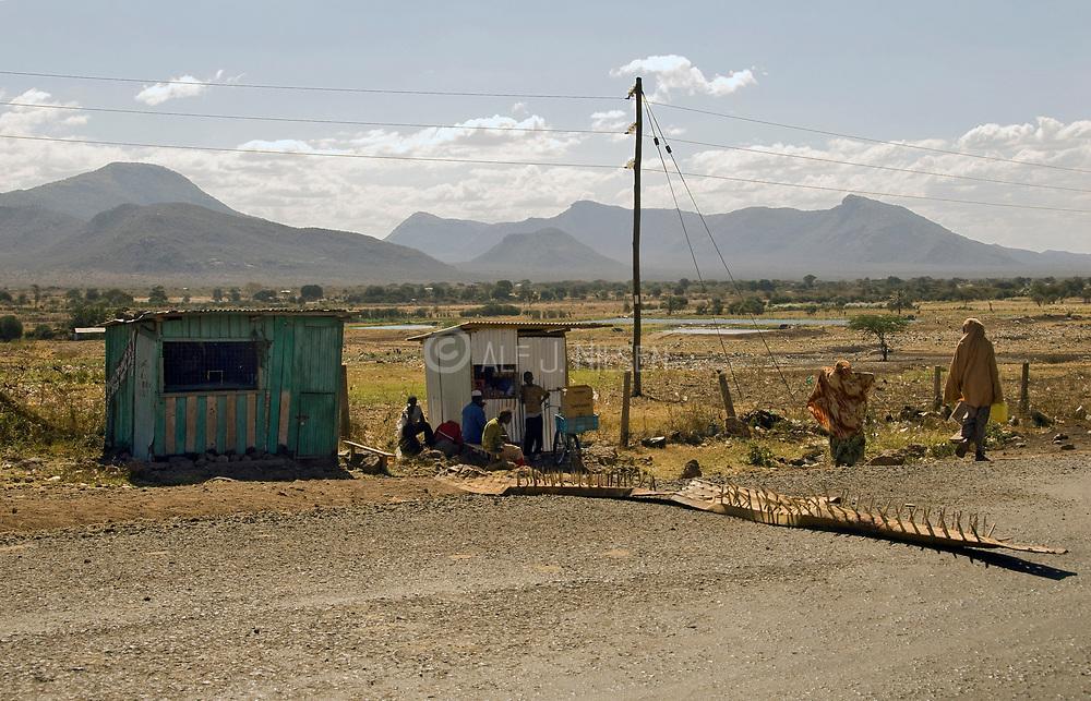 Road-block in central Kenya.