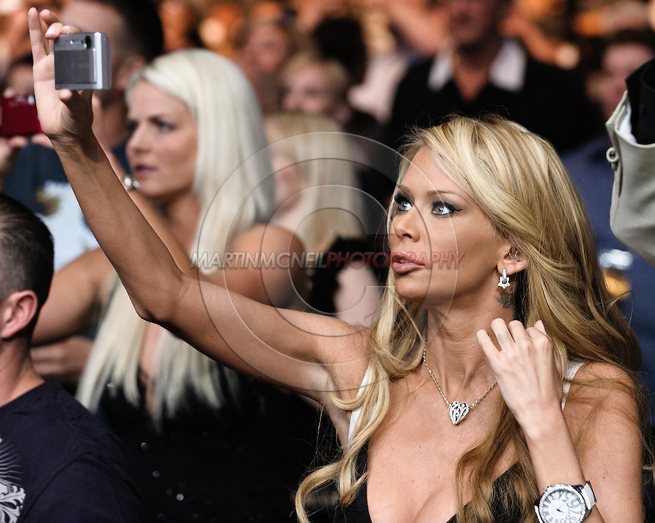 """LAS VEGAS, NEVADA, MAY 24, 2008: Adult entertainment actress Jenna Jameson, wife of Tito Ortiz (not pictured), was present to support her husband during """"UFC 84: Ill Will"""" inside the MGM Grand Garden Arena in Las Vegas"""
