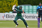Michael Lumb cuts during the Royal London 1 Day Cup match between Worcestershire County Cricket Club and Nottinghamshire County Cricket Club at New Road, Worcester, United Kingdom on 27 April 2017. Photo by Simon Trafford.