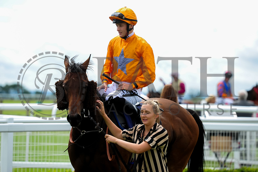 Big Time Maybe ridden by Harry Bentley and trained by Michael Attwater in the Best Free Tips At Valuerater.Co.Uk Handicap (Bath Summer Sprint Series Qualifier)(Class 6) race. - Ryan Hiscott/JMP - 07/08/2019 - PR - Bath Racecourse - Bath, England - Race Meeting at Bath Racecourse