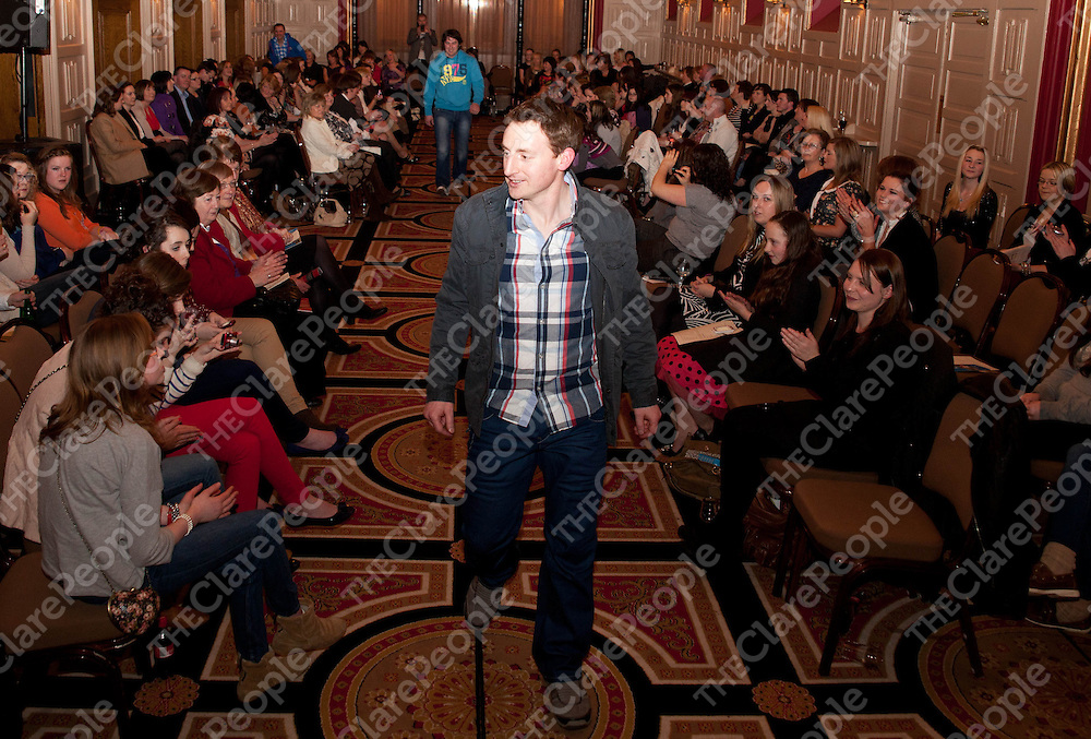 01.03.12 <br /> Eire Og Fashion Show, Templegate Hotel Ennis. Alan Malone on the cat walk<br /> . Picture: Alan Place/Press 22.