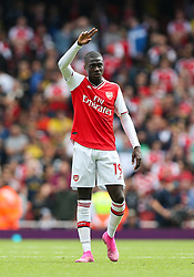 Nicolas Pepe of Arsenal acknowledges the crowd at the final whistle - Mandatory by-line: Arron Gent/JMP - 17/08/2019 - FOOTBALL - Emirates Stadium - London, England - Arsenal v Burnley - Premier League