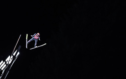 13.01.2019, Stadio del Salto, Predazzo, ITA, FIS Weltcup Skisprung, Val di Fiemme, Herren, 1. Wertungsdurchgang, im Bild Stefan Kraft (AUT) // Stefan Kraft (AUT) during his 1st Competition Jump for the Four Hills Tournament of FIS Ski Jumping World Cup at the Stadio del Salto in Predazzo, Italy on 2019/01/13. EXPA Pictures © 2019, PhotoCredit: EXPA/ JFK