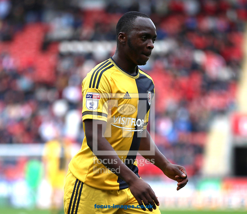 Floyd Ayite of Fulham during the Sky Bet Championship match at the New York Stadium, Rotherham<br /> Picture by James Wilson/Focus Images Ltd 07709 548263<br /> 01/04/2017
