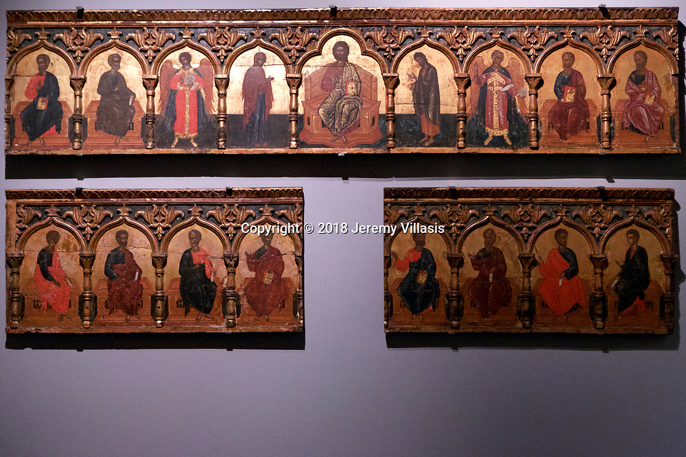 Parts of an iconostasis. Workshop of Epirus. (17th century).