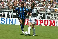 Siena 29-05-2005<br />Campionato di calcio serie A 2004-05 Siena Atalanta<br />Nella foto Capelli e TAddei<br />Foto Snapshot / Graffiti
