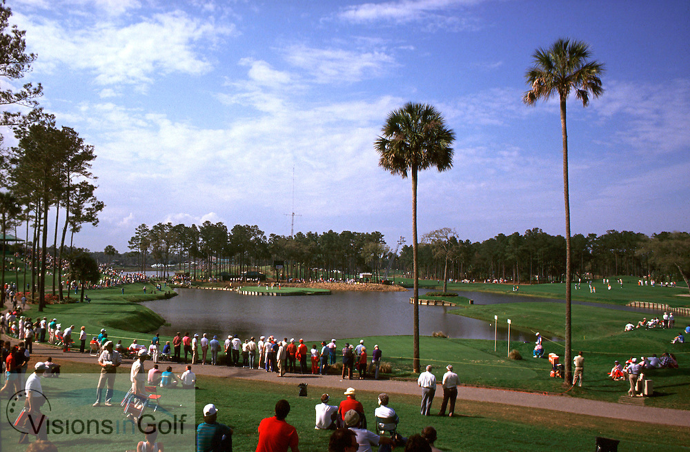 889329/ TPC at Sawgrass GC/ Photo Mark newcombe. <br /> TPC at Sawgrass GC 17th hole