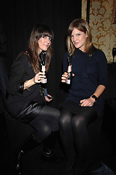 Left to right, actress TARA MERCURIO and KATE SUMNER daughter of singer Sting in the Moet & Chandon Room at British Fashion Week at the Natural History Museum on 15th February 2007.<br />