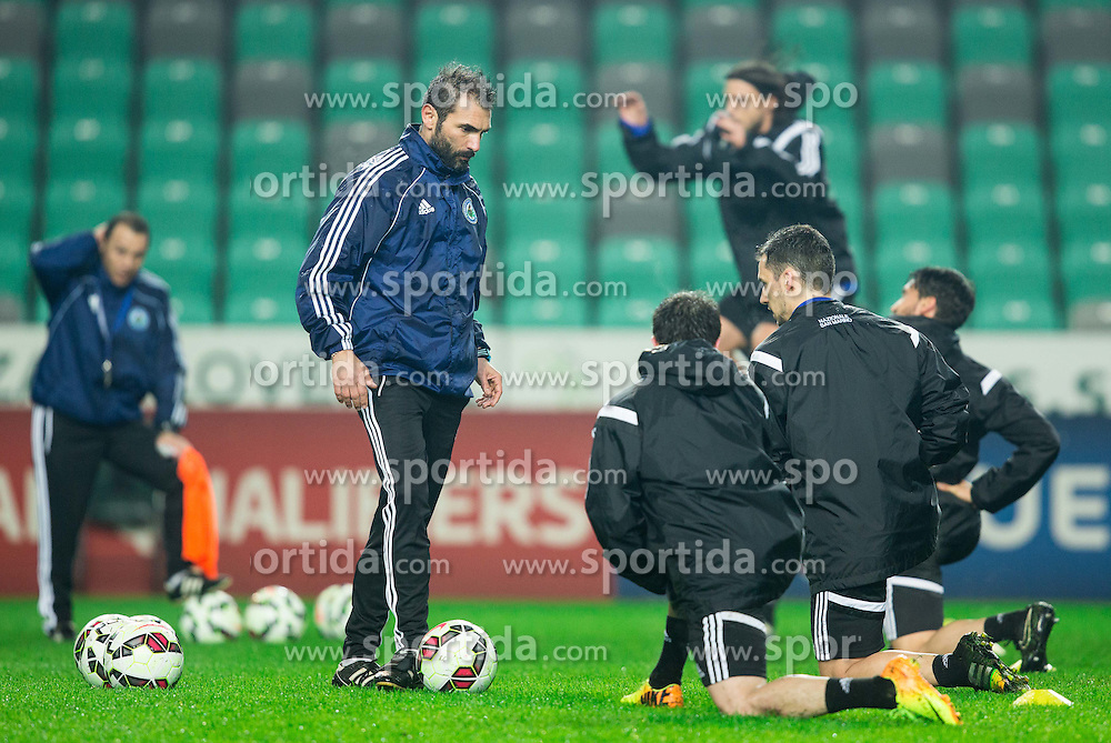 Pierangelo Manzaroli, head coach during practice session of San Marino National Football Team 1 day before EURO 2016 Qualifying match against Slovenia, on March 26, 2015 in SRC Stozice, Ljubljana, Slovenia. Photo by Vid Ponikvar / Sportida