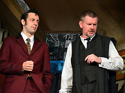 Lady Killers.<br /> Ralf Little with  John Gordon Sinclair on stage in the Lady Killlers Vaudeville Theatre<br /> London, United Kingdom<br /> Monday, 8th July 2013<br /> Picture by Nils Jorgensen / i-Images