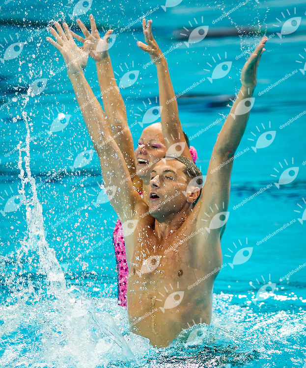 CZE - Czech Republic<br /> CIBULKA Ondrej HOLUBOVA Sabina<br /> Duet Mix Free Final<br /> Day7 30/07/2015<br /> XVI FINA World Championships Aquatics<br /> Synchro<br /> Kazan Tatarstan RUS July 24 - Aug. 9 2015 <br /> Photo Pasquale Mesiano/Deepbluemedia/Insidefoto