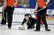 Brock Virtue, skip The 2011 GP Car and Home Players' Championship ran April 12-17 at the Crystal Centre, Grande Prairie, AB..11-04-13, Photo Randy Vanderveen, Grande Prairie, Alberta.