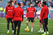 Sunderland Forward, Chris Maguire (7) warms up before kick off during the EFL Sky Bet League 1 match between Portsmouth and Sunderland at Fratton Park, Portsmouth, England on 22 December 2018.
