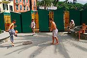 ITALY, Liguria, Rapallo.....ITALY, Liguria, Rapallo: adolscents playing football